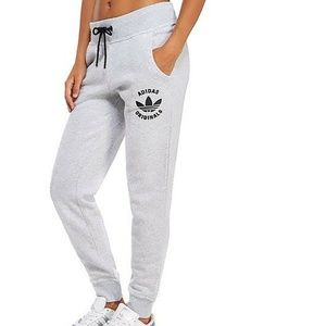 Grey Women's basic comfy jogger sweat pants
